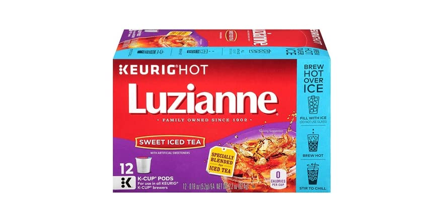 Luzianne Sweet Iced Tea, Single Serve Tea K-Cup, 12 Count   WOOT