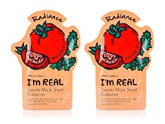 I'm Real Tomato Mask Sheet - Twin Pack