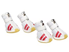White & Red Spring Mesh Shoes