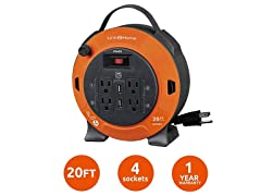 Link2Home 20' Extension Cord Reel with USB