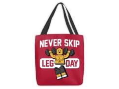 """Never Skip"" Medium Tote Bag"