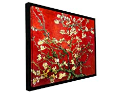 Van Gogh Red Almond Blossom - Framed