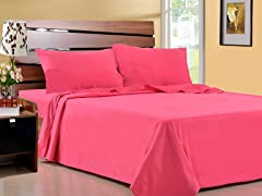 Microfiber Sheet Set-Set of 2-Fuschia-4 Sizes