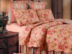 Clara's Pink Rose Full/Queen Quilt Set