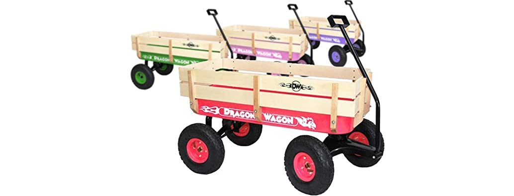 Kids' Wooden Wagon - 4 Colors!