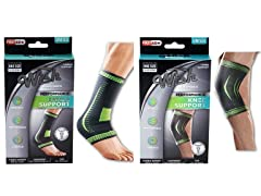 Ankle And Knee Support Sleeve Brace