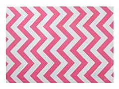 Chevron Placemat S/4-Pink