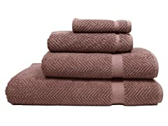 700GSM Herringbone 4- Piece Set - 6 Colors