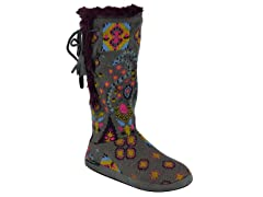 MUK LUKS® BOHO Multi Side Vent Lace up Boot, Grey