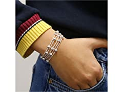 5 Row Beaded Snake Chain Bracelet