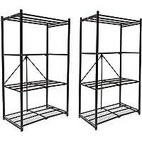 2-Pack Origami R1407 Storage Rack 4 Tier Storage Shelf