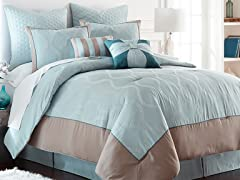 Tropez 8 pc Embriodered Comforter Set