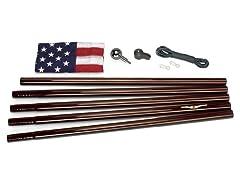 Bronze 18' Bronze In-Ground US Flag Kit