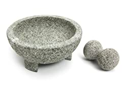 "Molcajete 8"" Granite Mortar & Pestle"