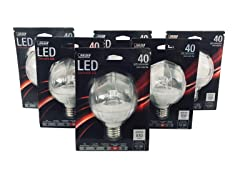 LED Dimmable, G25 Globe Bulb (6-pack)