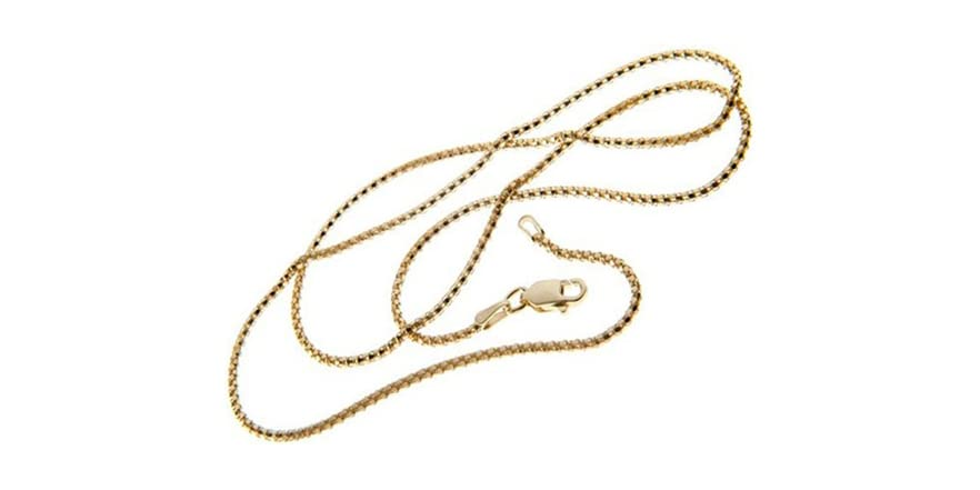 Italian 18kt gold plated coryana chain fashion for Italian kitchen silver spring