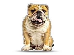 English Bulldog Shaped Pillow