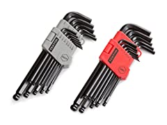 26-Piece Long Arm Ball Hex Wrench Set