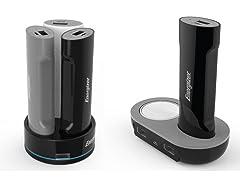Dual USB Charging Dock w/ Powerbanks