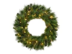 "30"" Mixed Pine Needle Wreath"