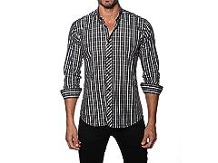 Jared Lang Dress Shirt, Black/Charcoal