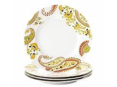 Rachael Ray 4-Pc Salad Plate Set-Paisley