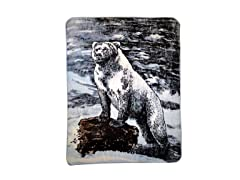Hi Pile Printed 60x80 Throw-Polar Bear