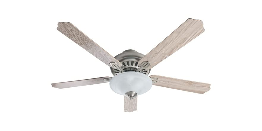 52 Inch Satin Nickel Ceiling Fan With Light Kit