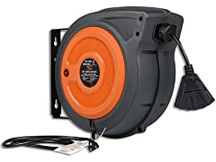 SuperHandy 50' 16AWG Extension Cord Reel
