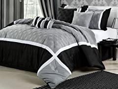 Quincy 8Pc Set-Black/Silver-2 Sizes