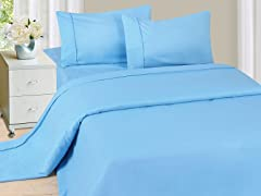 Lavish Home Sheet Set - Blue- 4 Sizes