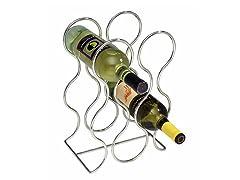 InterDesign Classico Chrome Round Wine Rack