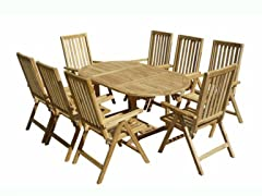 9-Piece Teak Dining Set