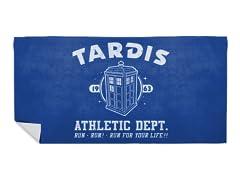 """Sci-Fitness - Tardis"" Beach Towel"