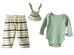 Sage Stripe Set & Hat