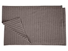 Combed Cotton Lined 2Pc Bath Mat Set