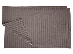 Combed Cotton Lined 2Pc Bath Mat Set
