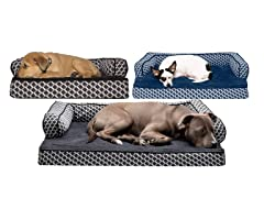 FurHaven Comfy Couch Orthopedic Pet Bed