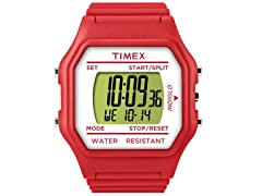 Unisex Fashion Digitals Jumbo Red Watch