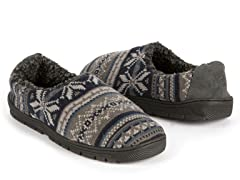 MUK LUKS® Fairisle Full Slipper Blue