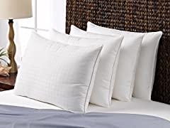 4 Pack Memory Fiber 300tc Cotton Pillows