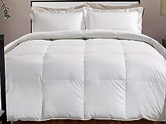 800TC Down Alternative Comforter-White-3 Sizes