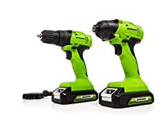 Greenworks 24V Drill-Impact Driver Combo
