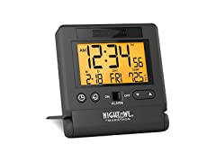 Marathon CL030036BK Travel Alarm Clock