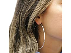 Sterling Silver 65MM Classic Hoops