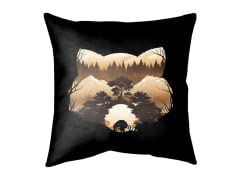 Raccoon Sunset Double Sided Pillow