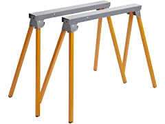 Bora Steel Folding Sawhorses (Set of 2)