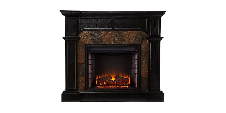 Cartwright Convertible Electric Fireplace Ebony