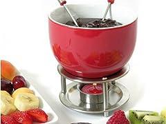 Mastrad Chocolate Fondue Set red