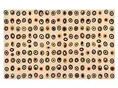 Odyssey Ivory Circles 3' x 5' Rug